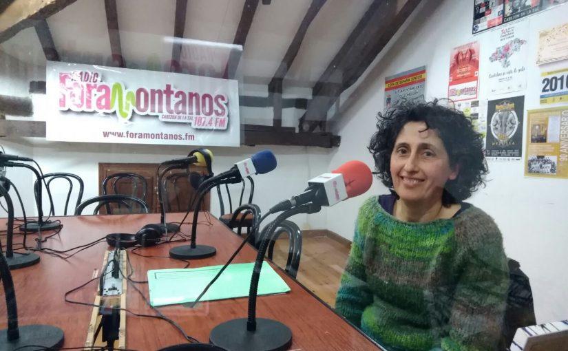 Ana Rodríguez, biologa, taller sobre huertas ecológicas en Mazcuerras.