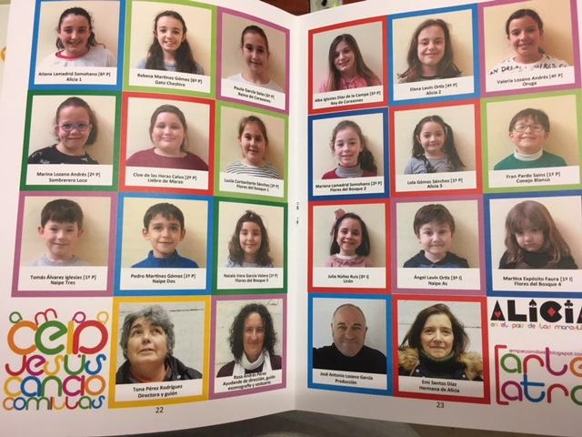 Obra de Teatro Alicia en el País de Las Maravillas representada por los alumnos del CEIP Jesús Cancio de Comillas